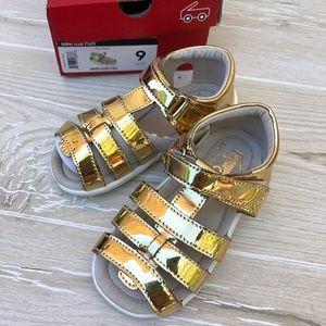 See Kai Run Fe Gold Gladiator Sandals